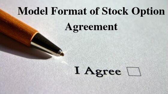 Model Format of Stock Option Agreement