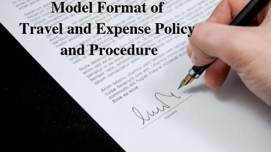 Model Format of Travel and Expense Policy and Procedure