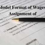 Model Format of Wages, Assignment of