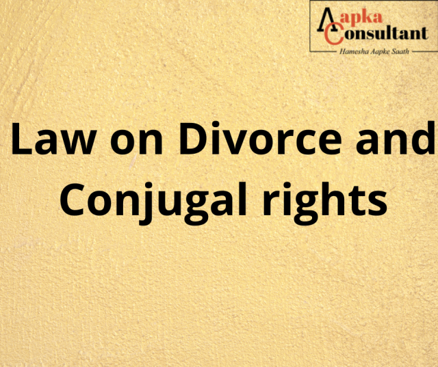 Law on divorce and conjugal rights