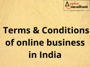 Terms & Conditions of online business in India