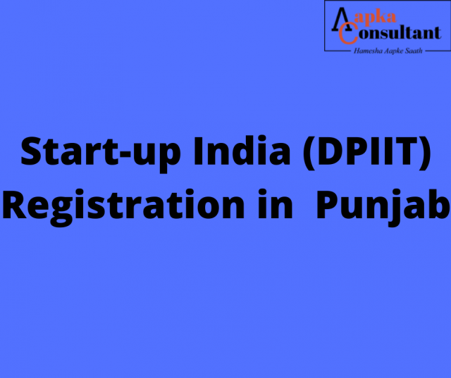 Start-up India (DPIIT) Registration in Punjab